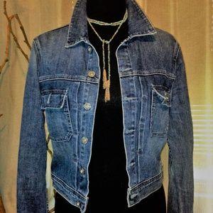 AG Artisan Cropped Denim Jacket